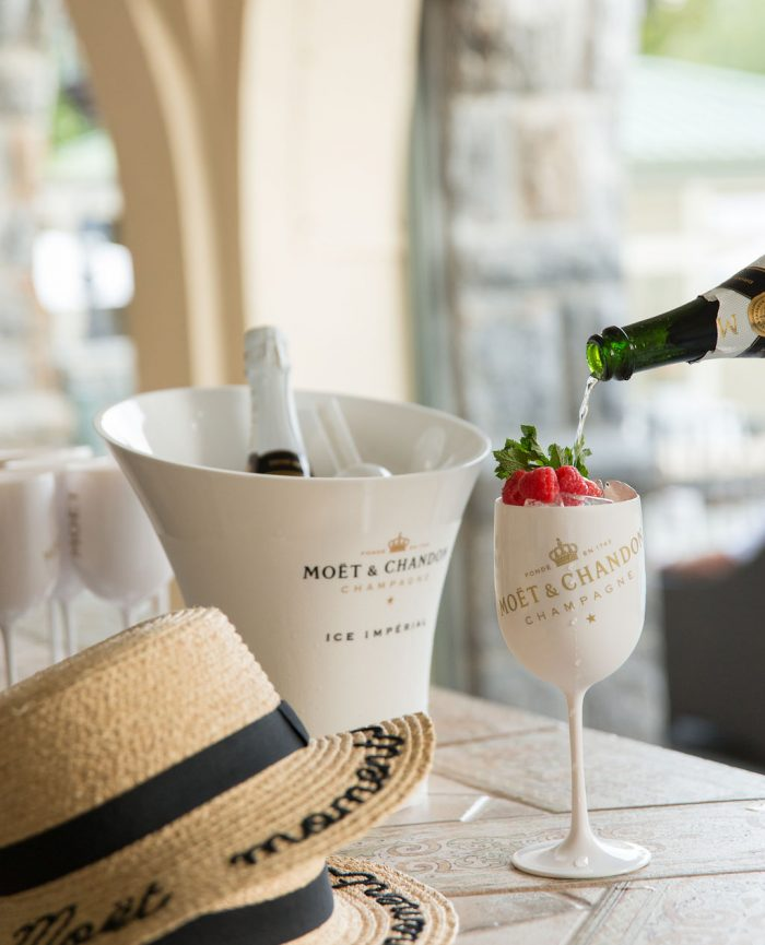 Moet and Chandon Hats and Champagne