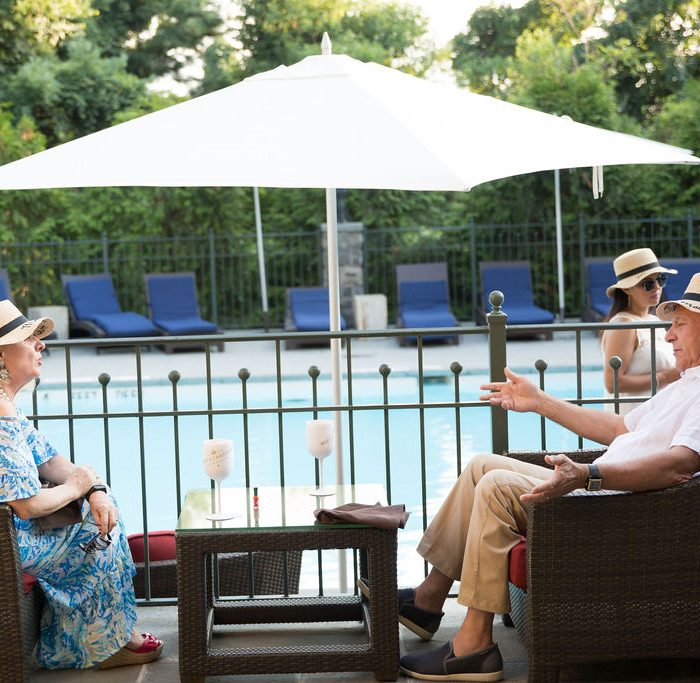 Couple Talking at Castle Hotel and Spa